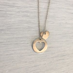 Tiffany & co cut out heart necklace